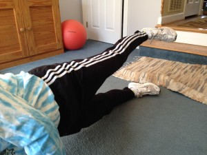 plank side - 1 leg up - lower