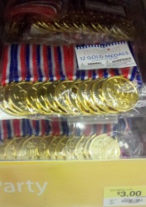 medals as party favors