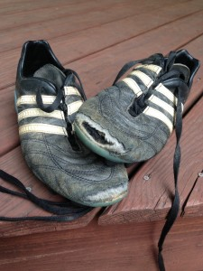 worn out cleats