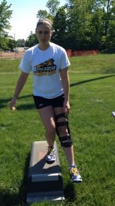 Single leg dip assess post ACL reconstruction