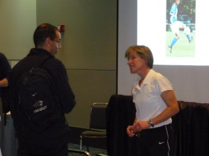 W talking to Coach Joe VYSA