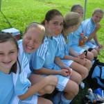 Girls sitting on a bench