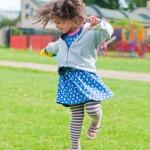 dancing girl outside