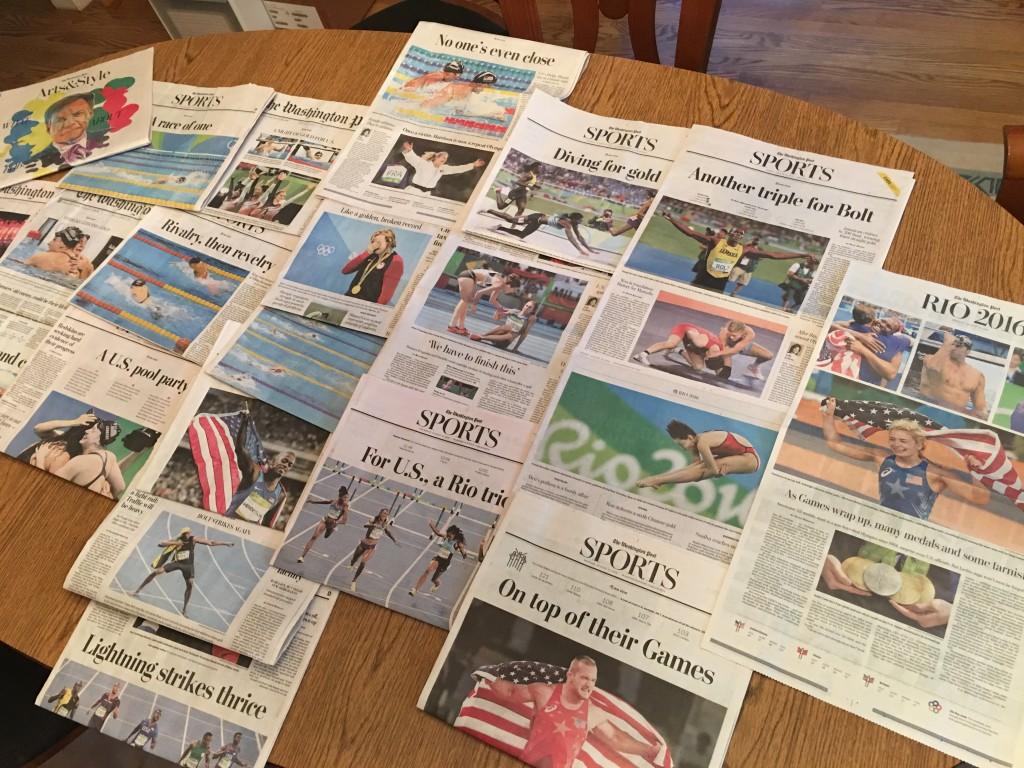 Olympic headlines straight